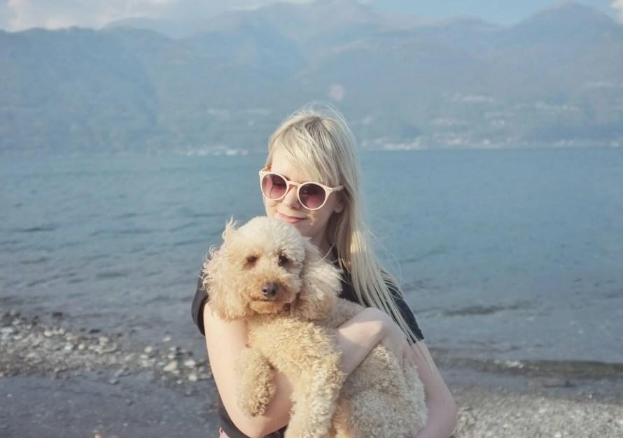 lake sunday italy hygge dog travel