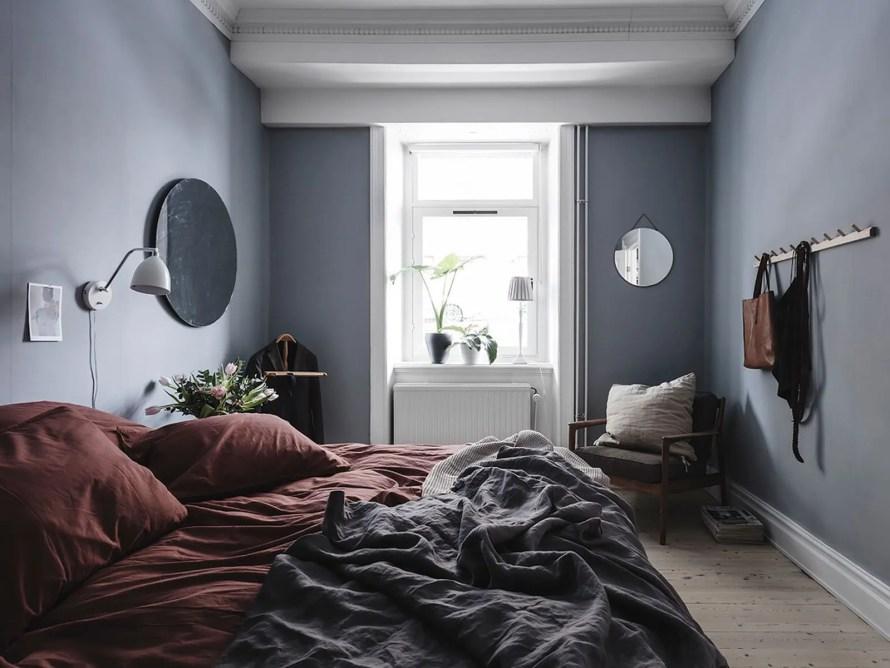 soft blue bedroom calm cozy scandinavian