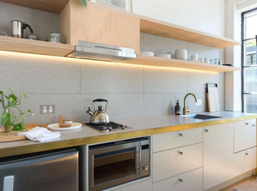 scandinavian apartment sydney airbnb kitchen