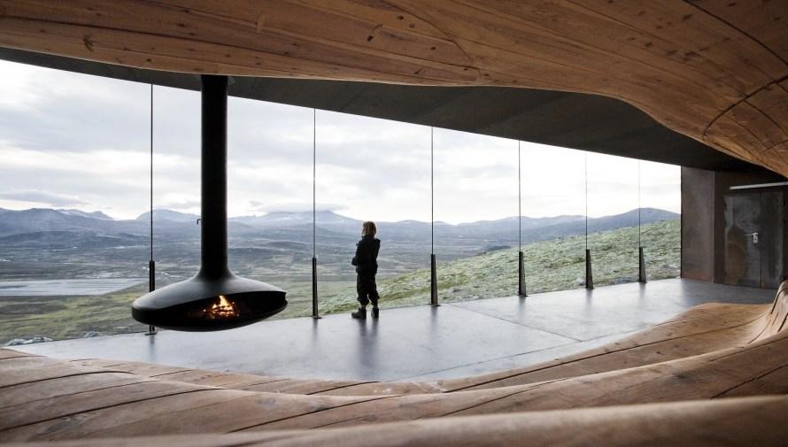 amazing norway travel viewpoint snohetta interior