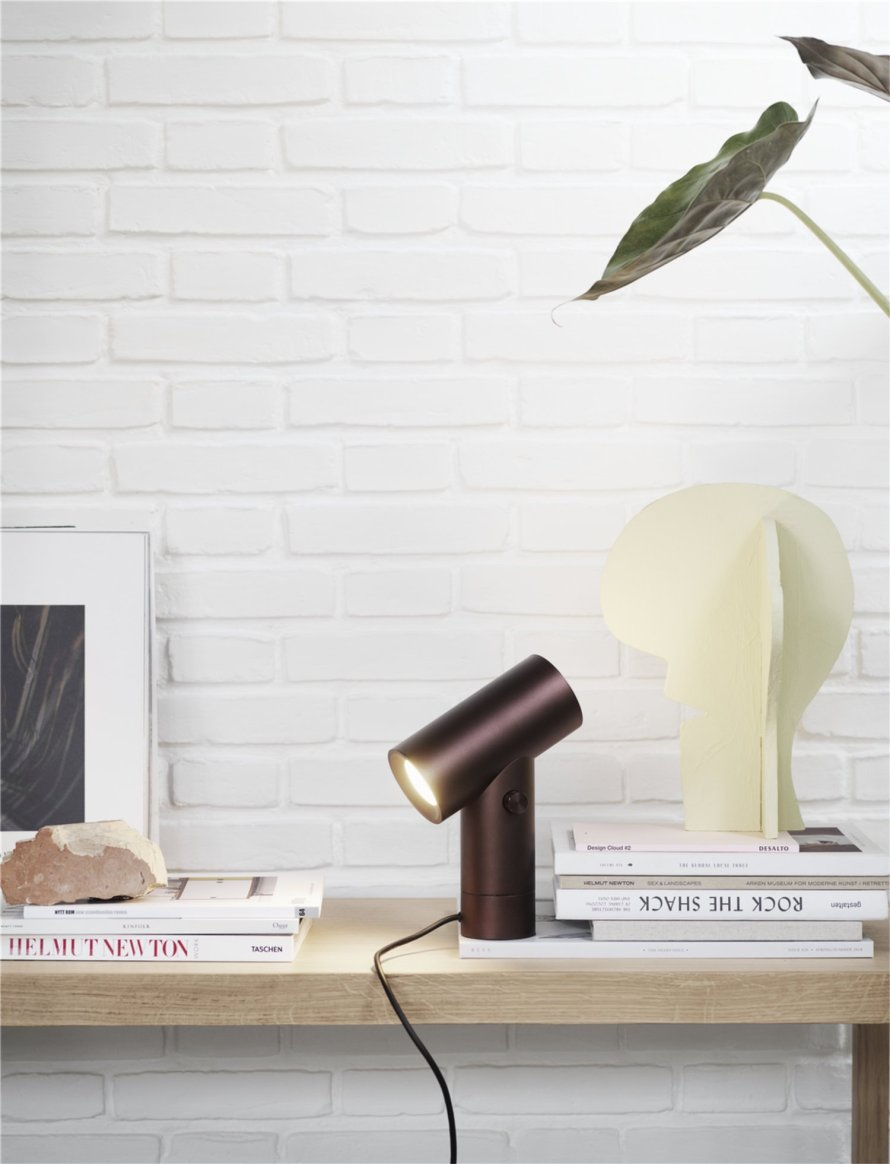 scandinavian feeling lamp table beam muuto