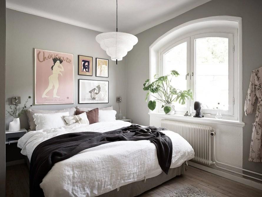 scandinavian feeling bedroom cozy hygge green 1