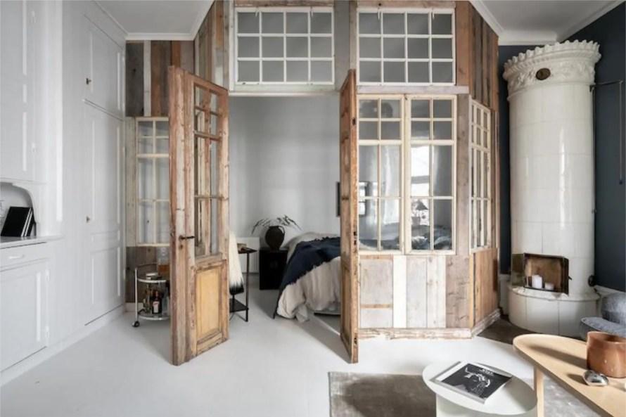 scandinavian feeling bedroom cozy wood 1