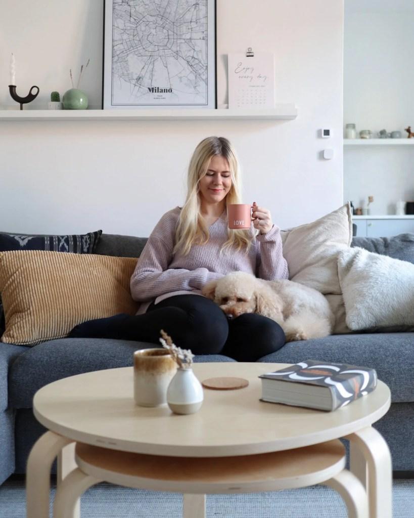 scandinavian feeling valentines coffee date home