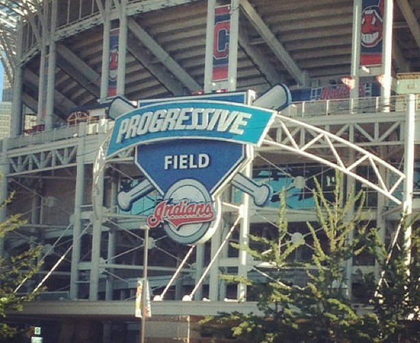 Progressive Field Sign