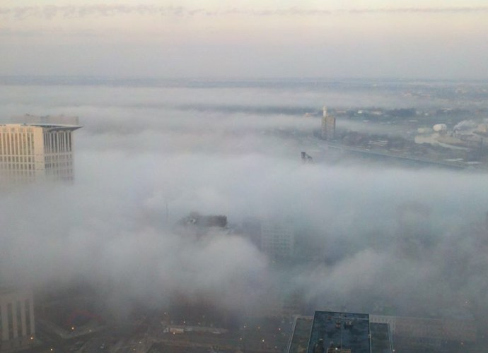 Fog Rolling Into Cleveland