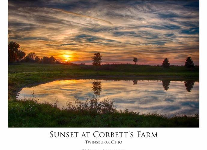 Sunset at Corbett's Farm