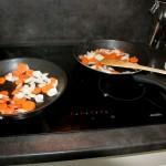 sauté  vegetables in bacon fat