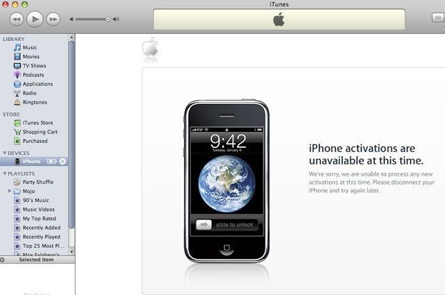 Apple iOS5 Download & Activation Issues - Discounted App Store