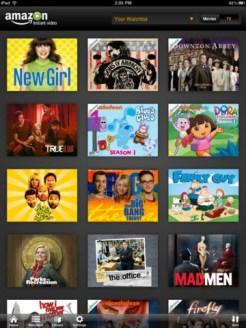 Amazon Instant Video iPad App - Watchlist