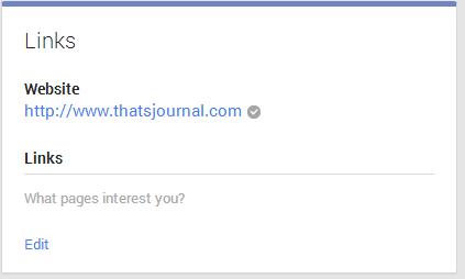 Add Website URL in Google+ page