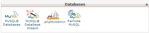 Click on MySQL Databases under Databases in cPanel