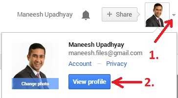 View Profile in Google+ Page