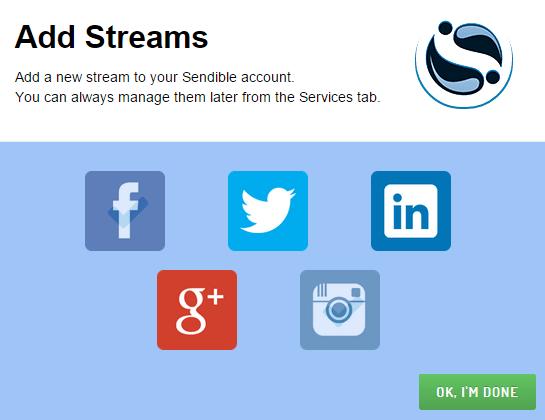 Add a new stream in Sendible