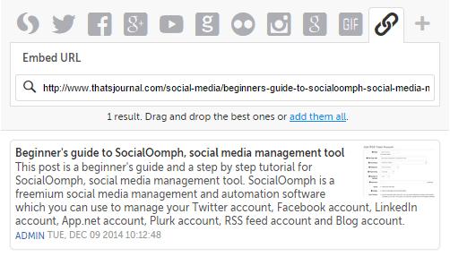Add links in Storify