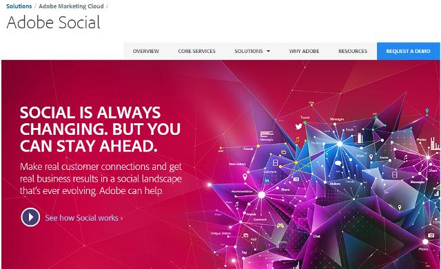 Adobe Social, social media management tool