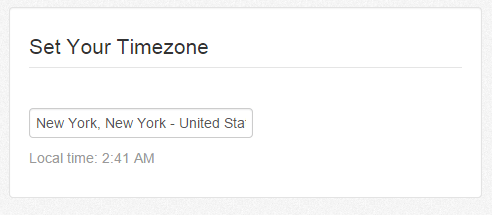Change Time Zone settings on Tailwind