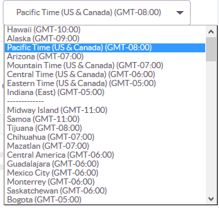 Change Timezone settings in Klout