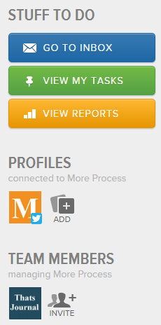 Click on Add button under Profiles in Sprout Social