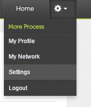 Click on Settings under gear menu in Twtrland
