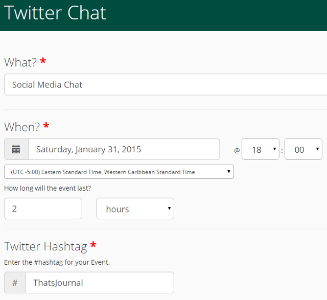Create Twitter chats and events using Vite