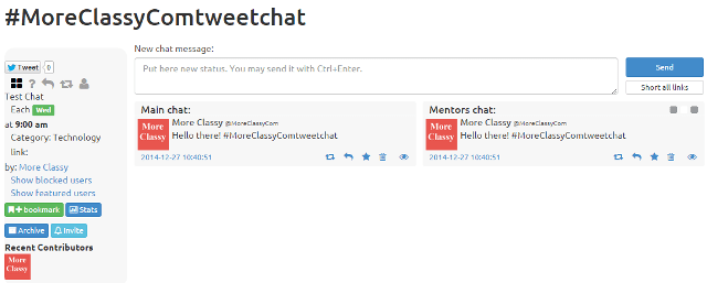 Create a Twitter chat room using TwChat