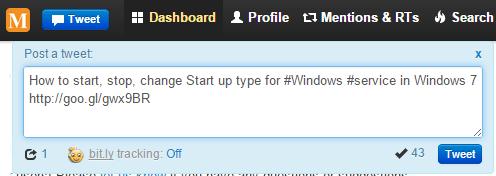 Create a tweet in Twitonomy