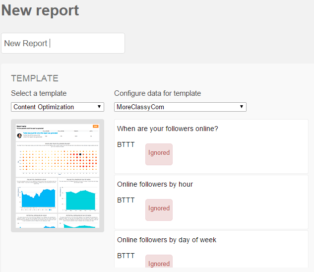 Create reports in SocialBro