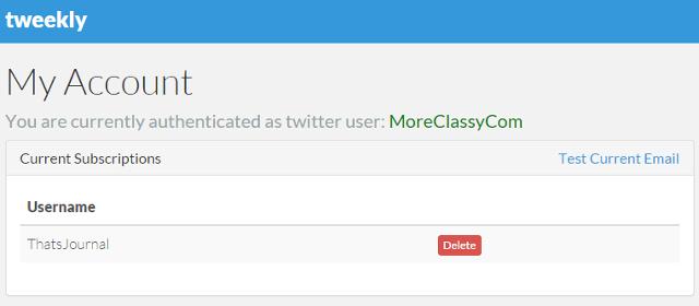 Create weekly email digest notifications for Twitter handle using Tweekly