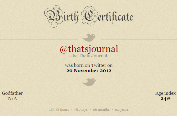 Find joining date of any Twitter account using TwBirthday