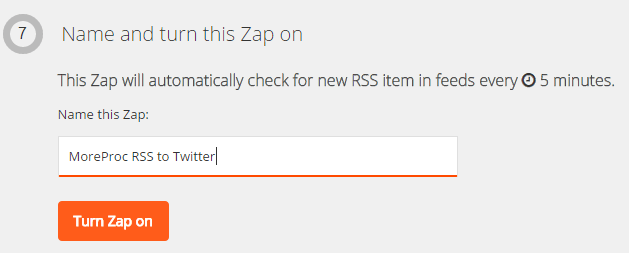 Name and turn a Zap on in Zapier