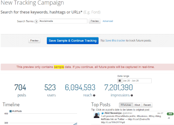 Real Time Social Media Keywords, Hashtag And URL Tracking | Thats