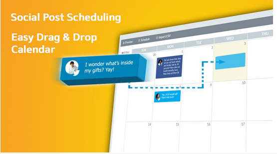 Schedule social media posts using calendar with SocialDraft