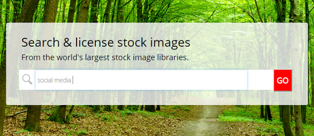 Search stock images to add to social media posts in MavSocial