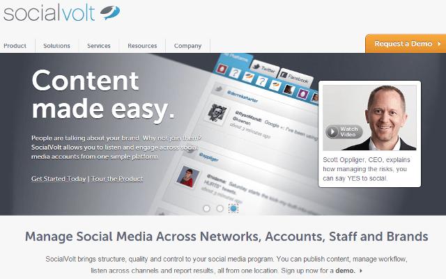 Social Volt, enterprise social media management tool
