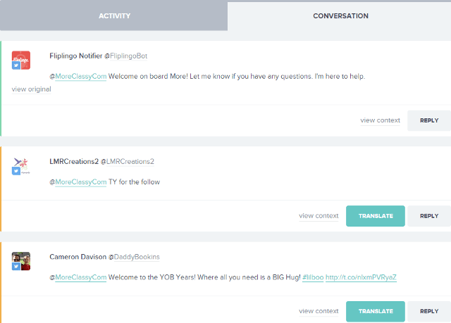 Translate replies, mentioned tweets in Fliplingo