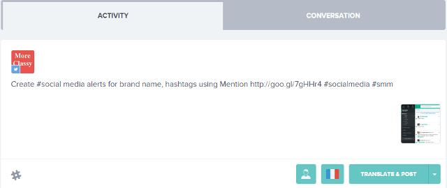 Translate tweets from Fliplingo dashboard