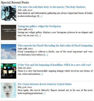 Best WordPress Plugin To Add Thumbnails Recent Posts Widget