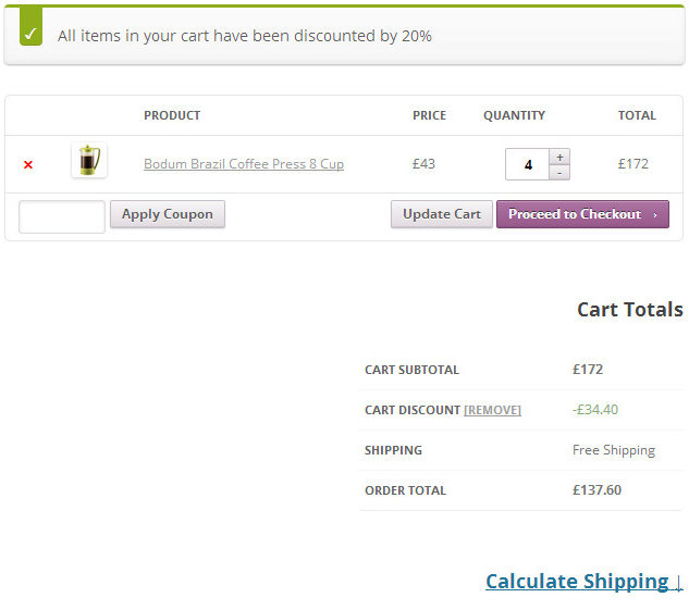 Discount automatically applied in Checkout in WooCommerce store