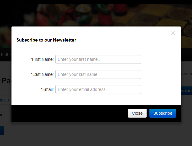 Add Lightbox MailChimp Newsletter Subscribe Form In WordPress