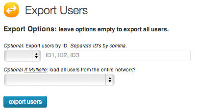 Export And Import Users From One WordPress Blog To Another