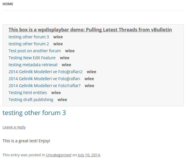 How To Integrate vBulletin Comments In WordPress Blog