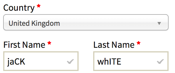 Incorrect letter case for customer name in WooCommerce