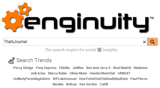 Search content based on social relevancy using Enginuity search