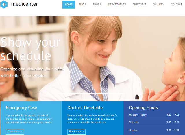 Responsive Medical Clinic WordPress Theme For Doctors