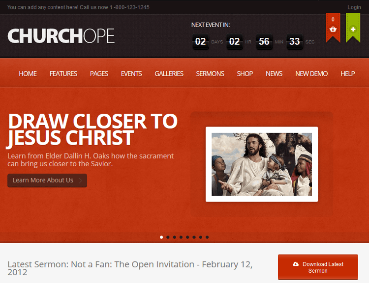 ChurcHope WordPress Theme