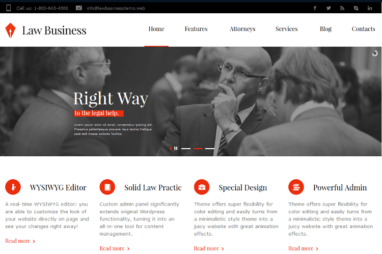 LawBusiness WordPress Theme