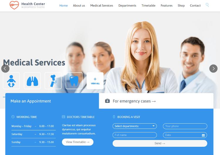 Medical Health WordPress Theme