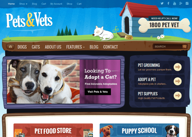 Pets & Vets WordPress Theme
