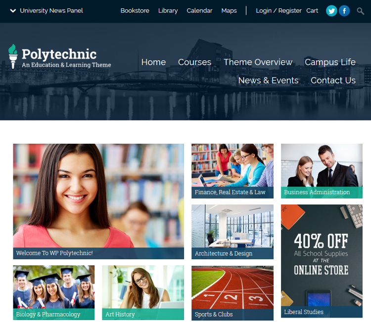 Polytechnic WordPress Theme